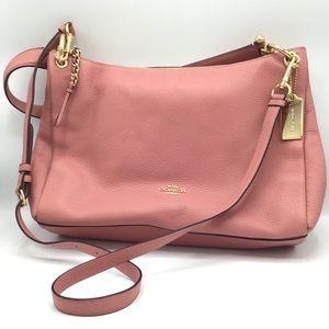 Pink Coach Mia Shoulder Pebbled Rose Bag NWT